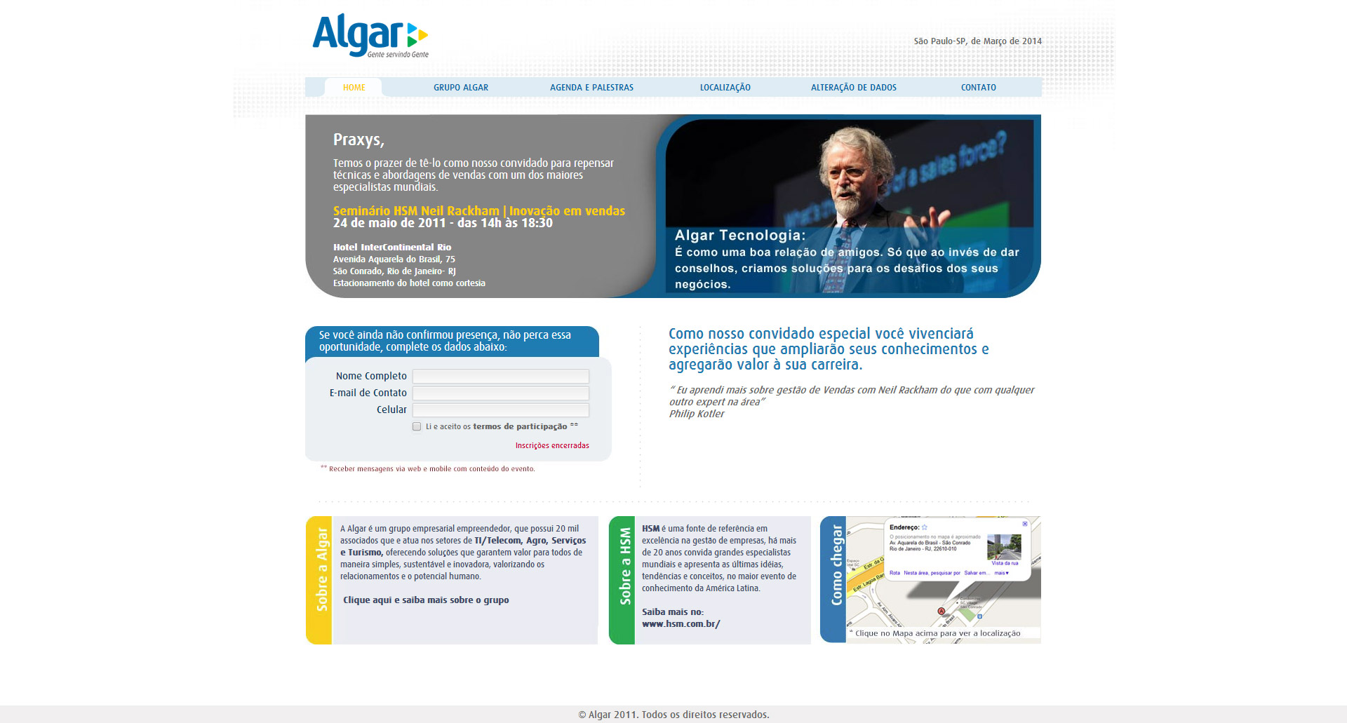 Imagem do projeto Algar Hotsite
