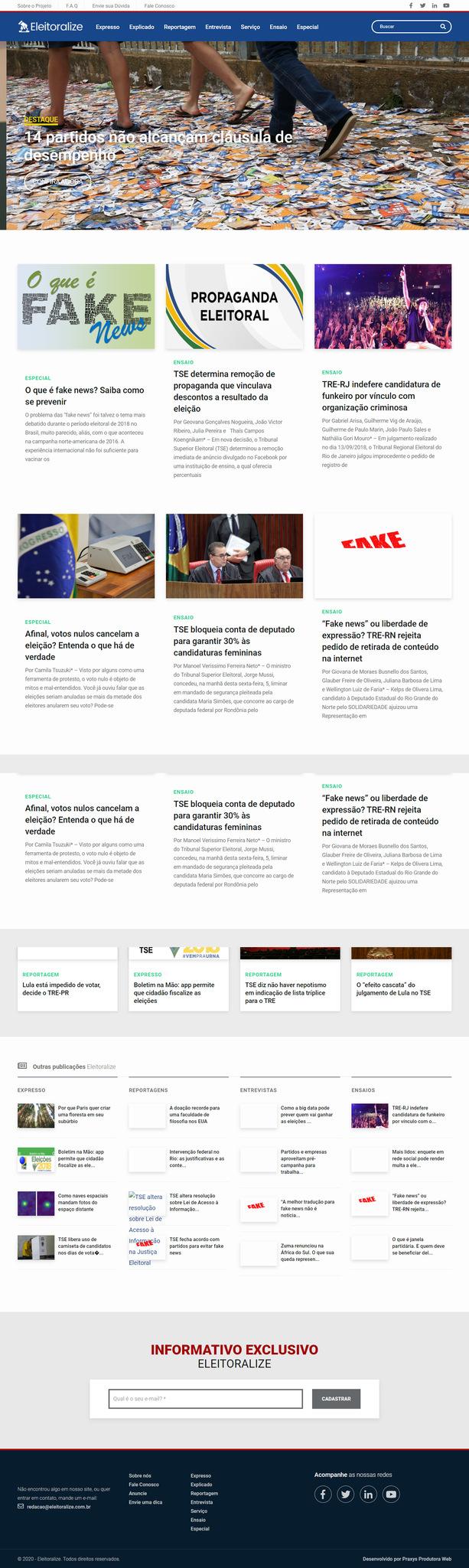 Imagem do projeto Eleitoralize