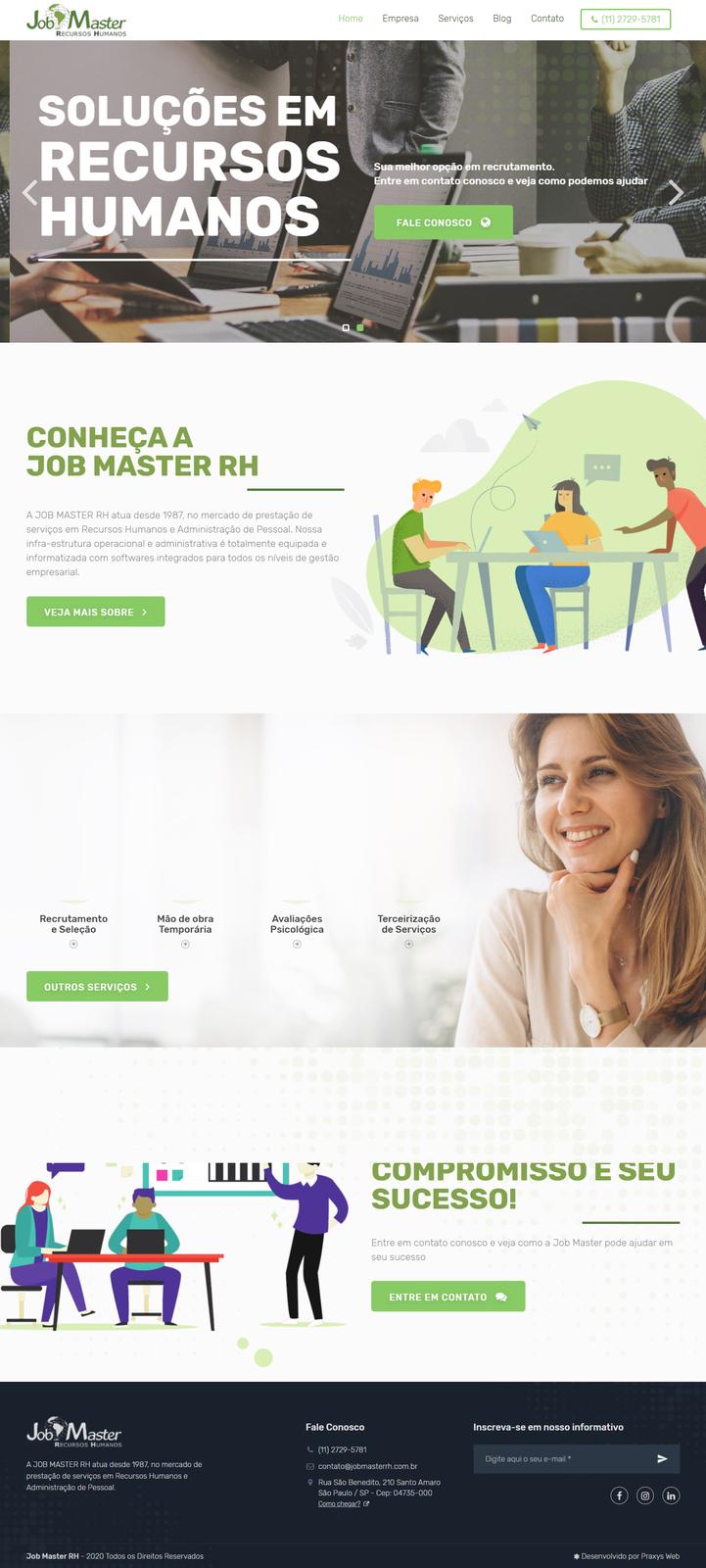 Imagem do projeto Job Masters RH