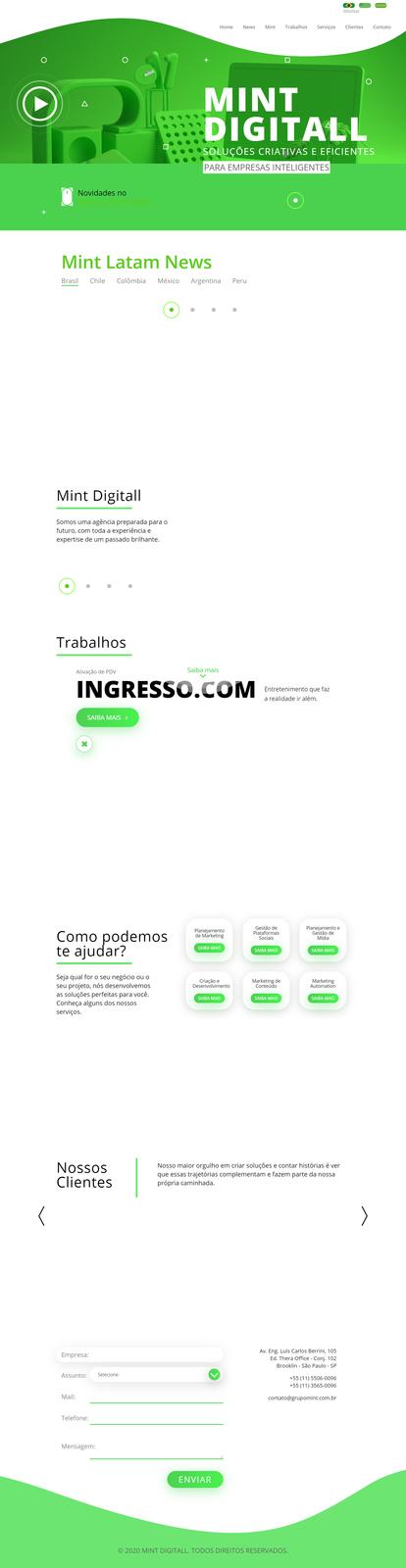 Imagem do projeto Agência Mint